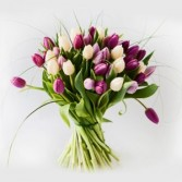 Polka Dot Tulip Bouquet  Hand-tie Bouquet
