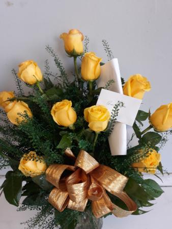 bouquet rosas amarilas # 10 rosas