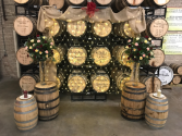 Bourbon Barrels and Nuptials  Non Traditional Wedding Alter
