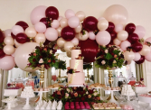 Boutique Balloon Garlands & Flowers  In Collaboration with Parties 'N' More