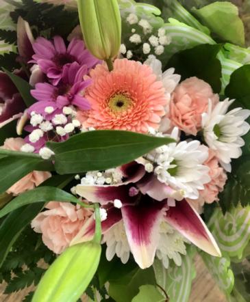Boutique Fresh Cut Bouquet Recipe#1 Wapped Fresh Cut Flowers