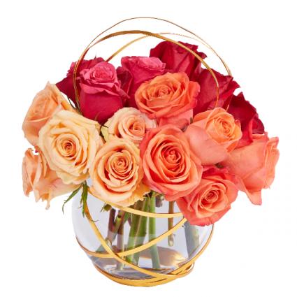 Bowl Me Over Romantic Rose Bouquet