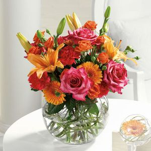 Bowl of Beauty Flowers in a vase