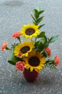 Bowl of Sunflowers Garden Bouquet Design