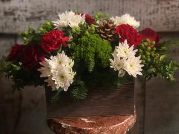 Box of Christmas center piece