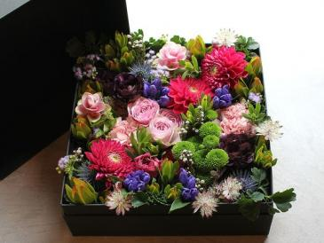 Box of fresh flowers