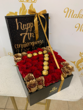 Glam Bam! Box of Roses 30x30 Ferrero Initial