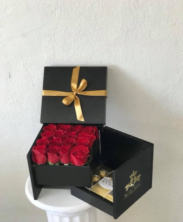 Box of Roses and Ferrero Box