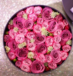 Box of RED Roses Bouquet **FREE 8 PCS OF FERRERO BOX OF CHOCOLATE** in Vancouver, BC | ARIA FLORIST