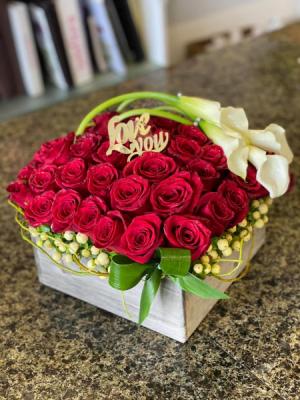 Box Of Roses  Box  in Houston, TX | Elegance Flowers