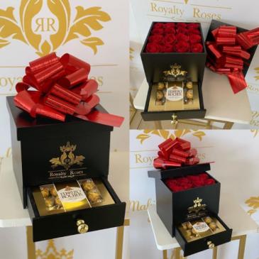 Box of Roses Drawer Ferrero Box with drawer