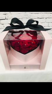 Box of roses shaped in a heart Floral arrangement