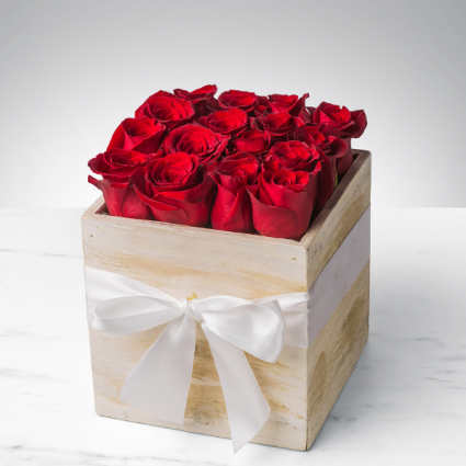 Box of Roses Wooden Boxes