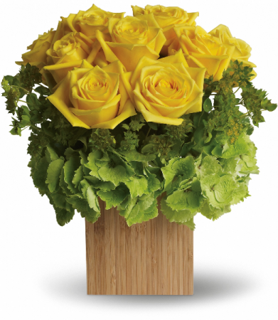 Box of Sunshine Fresh Arrangement