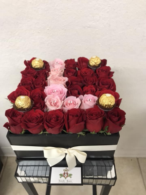 Box with Letter Initial Box with Roses in Harlingen, TX | Royalty Roses