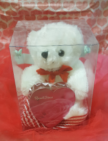 Boxed Bear with Chocolate Heart Add-On