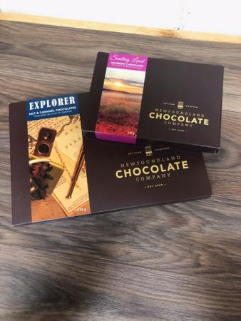 Boxed chocolates  Newfoundland chocolate company