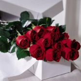 Boxed Long Stem Roses