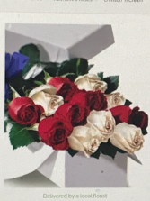 Boxed Rainbow  Boxed Roses
