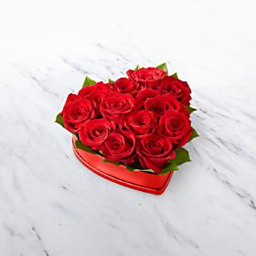 LOVELY RED HEART ROSES