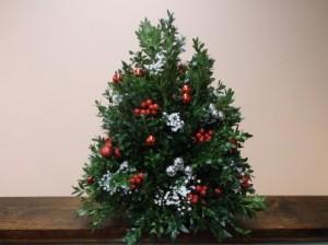 BOXWOOD TREE ARRANGEMENT in Springfield, VT | WOODBURY FLORIST