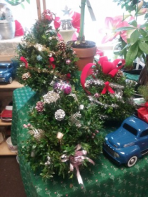 Boxwood Tree Arrangements Holiday Gift
