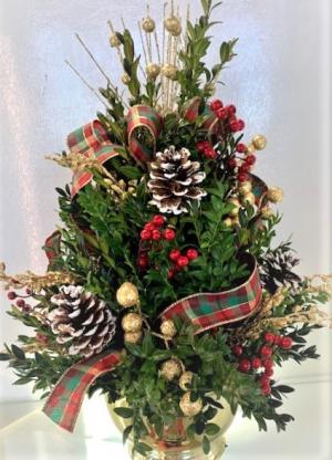 "Boxwood ""Tree"" Fresh Greenery Arrangement in Jamestown, NC | Blossoms Florist & Bakery"