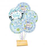 Boy-Mylar balloons with DeBrand chocolate bar