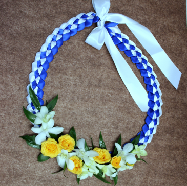 Braided Ribbon Lei - BHS Graduation Lei