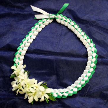 Braided Ribbon Lei - WHS Graduation Lei
