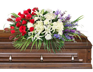Brave Soldier Casket Spray in Anadarko, OK | SIMPLY ELEGANT FLOWERS ETC