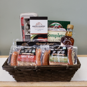 Breakfast Basket for Dad Gourmet Basket in Newport, NH | PETAL PATCH
