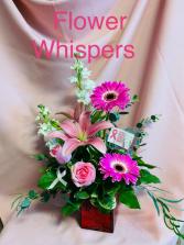 Breast Cancer Awareness Flower Arrangement