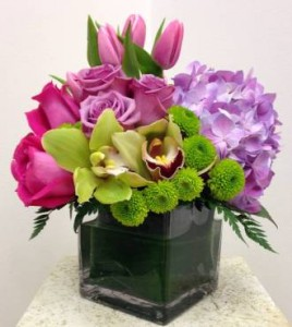 BREATH OF FRESH AIR Cymbidium Orchids, Hydrangea, Roses & Tulips in Worthington, OH | UP-TOWNE FLOWERS & GIFT SHOPPE