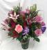 One Dozen Roses With Stargazer Lily