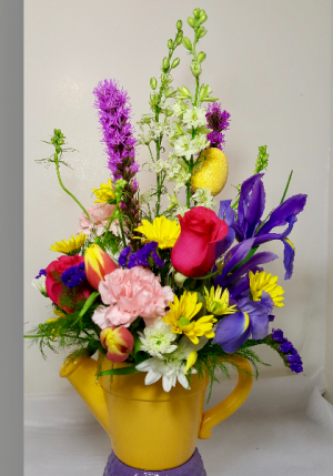 Breitinger's Showers of Flowers Watering Can Bouquet in White Oak, PA | Breitinger's Flowers & Gifts