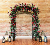 Bricks & Petals  Event Hall Wedding Arch
