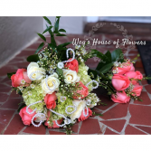 Bridal and Bridesmaid Bouqet Wedding Flowers