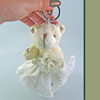Bridal Bear Keychain Crystal Jewelry