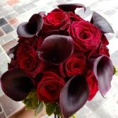 Black Baccara & Black Calla Lilies Wedding