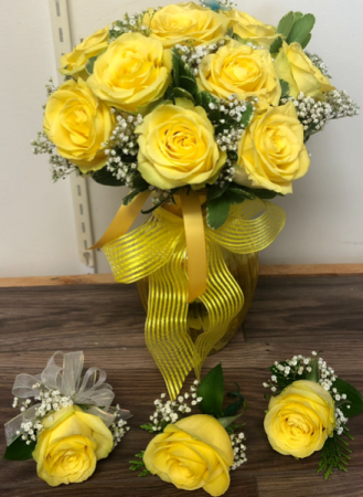 Bridal bouquet & boutiners  Wedding package