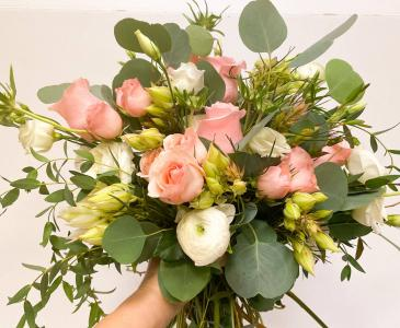 Blush & White Bridal Bouquet  Bridal