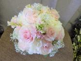 Bridal bouquet garden tea roses