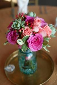 Bridal bouquet hand