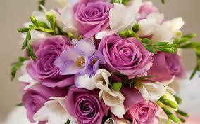bridal bouquet   lavender and white