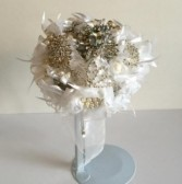 Bridal Bouquet - Queen Platinum Colored Arrangement