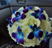 bridal bouquet rosas orquideas