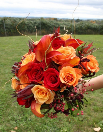 Bridal Bouquet roses/with fillers