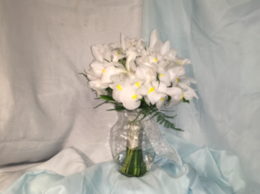 Bridal bouquet  White Iris