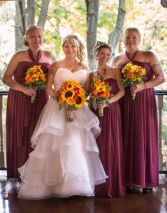 Bridal Bouquets: Fall Tones